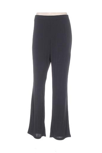 fuegolita pantalons femme de couleur noir