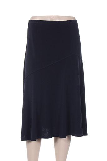 christine laure jupes femme de couleur bleu