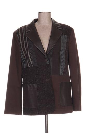 Veste chic / Blazer marron CAVITA pour femme