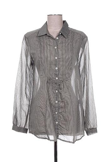 mat de misaine chemises femme de couleur gris