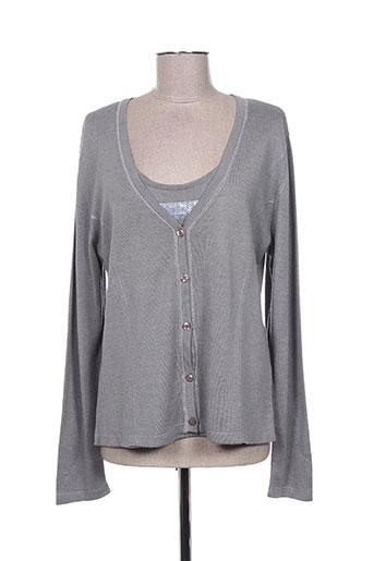 initiative chemises femme de couleur gris