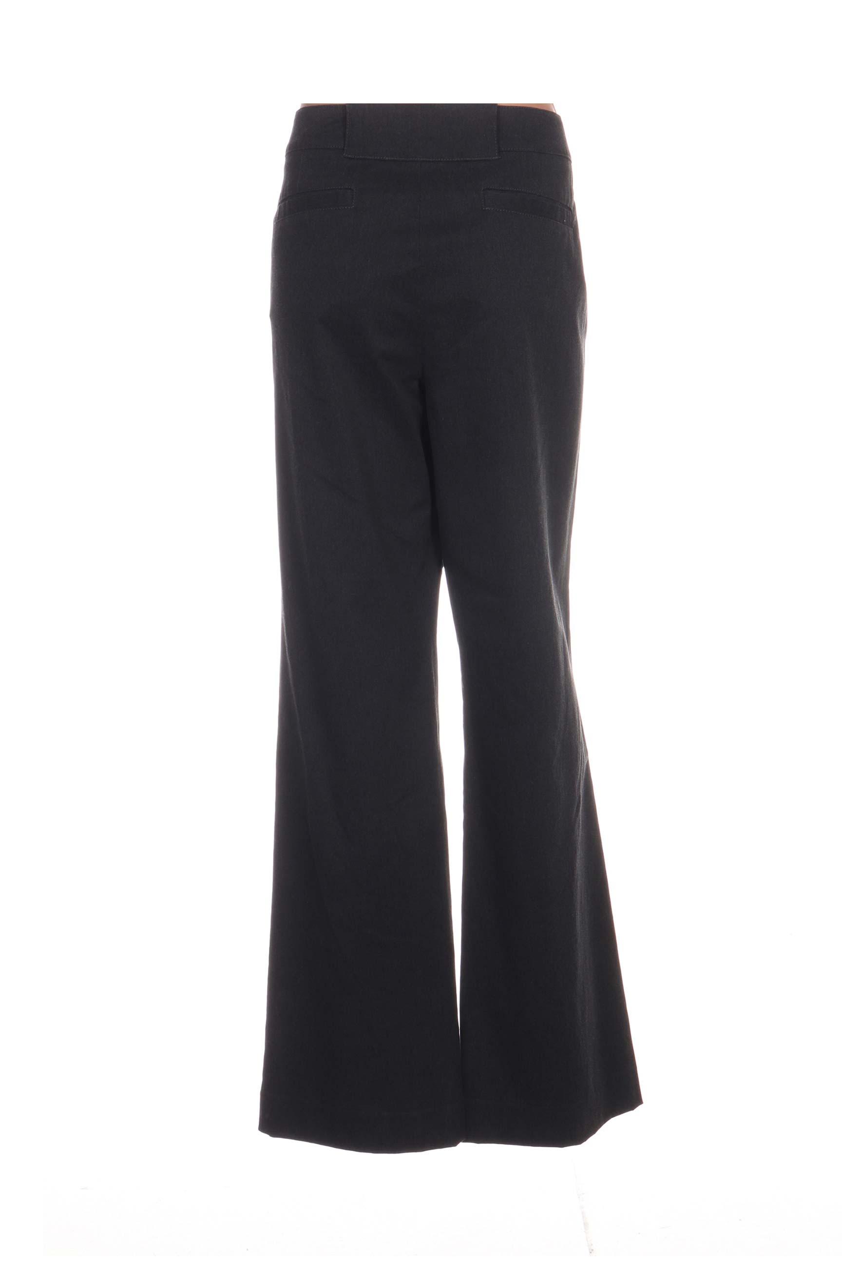 Mat De Misaine Pantalons Decontractes Femme Couleur Gris En Soldes Pas Cher 1167435-gris00