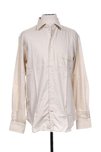 jean chatel chemises homme de couleur beige