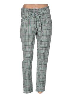 Pantalon casual vert CALLIOPE pour femme