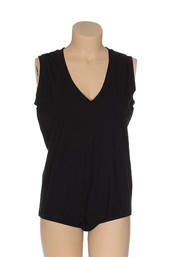 mat. t-shirts femme de couleur noir