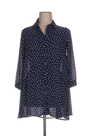 jeff gallano chemises femme de couleur bleu