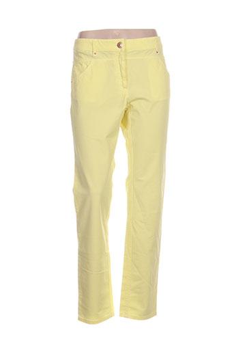 zerres pantalons femme de couleur jaune