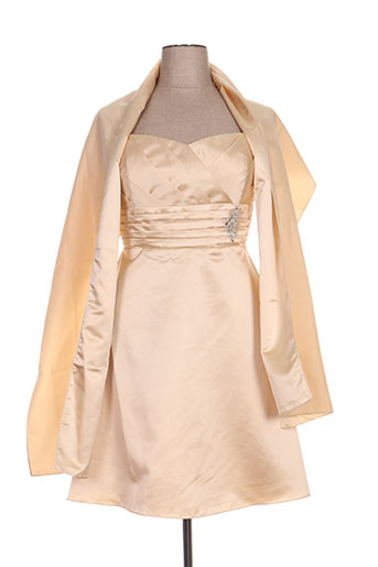 Robe courte beige FIRST LADY pour femme