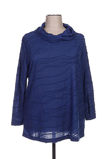 kjbrand tuniques femme de couleur bleu