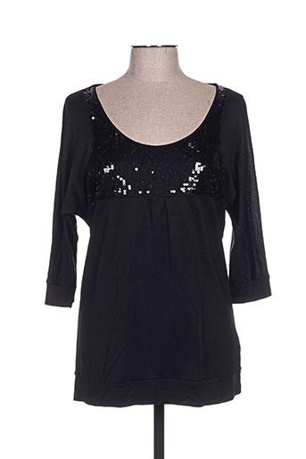 biluzik t-shirts femme de couleur noir