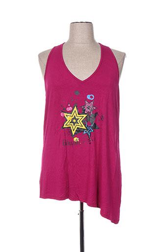 biluzik t-shirts femme de couleur rose