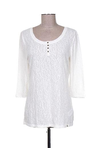simclan t-shirts femme de couleur blanc