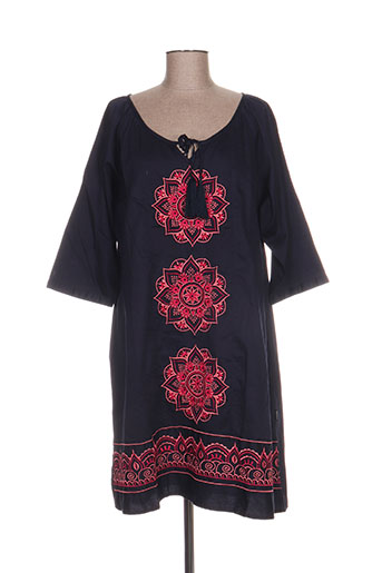 carisal robes femme de couleur bleu