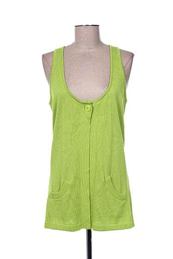 top secret gilets femme de couleur vert