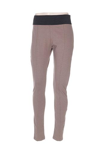 enjoy pantalons femme de couleur beige