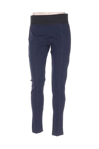 enjoy pantalons femme de couleur bleu