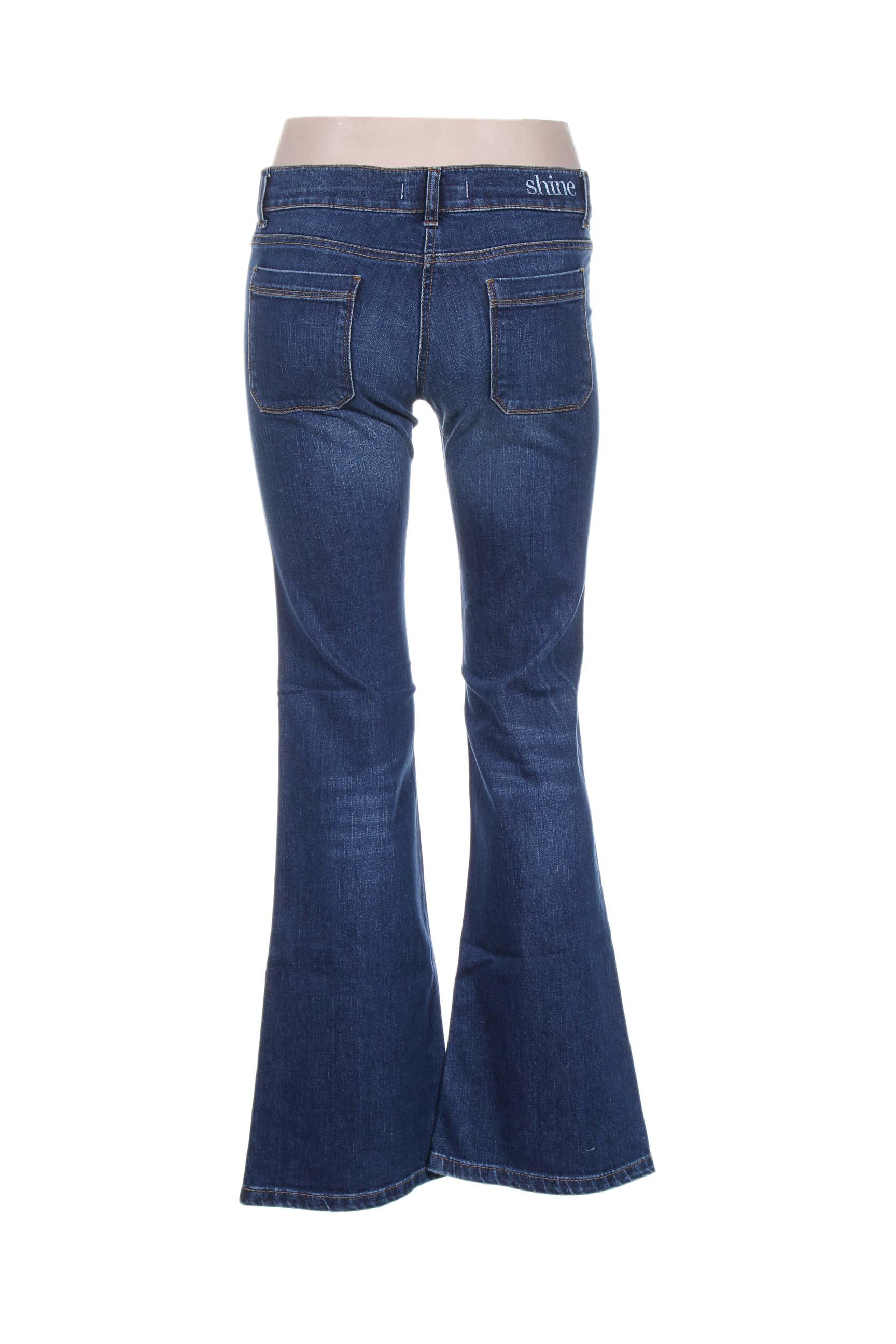 Shine Jeans Bootcut Femme De Couleur Bleu En Soldes Pas Cher 1162731-bleu00