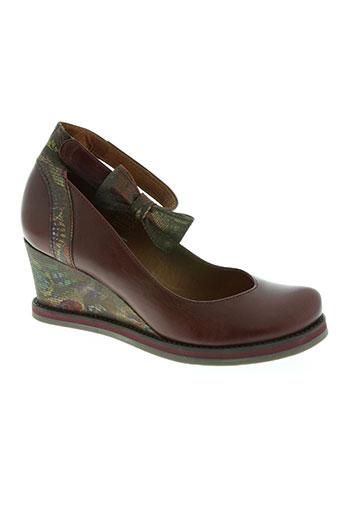 libre comme l'air chaussures femme de couleur rouge