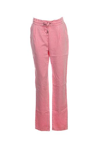 Pantalon casual rose VERO MODA pour femme