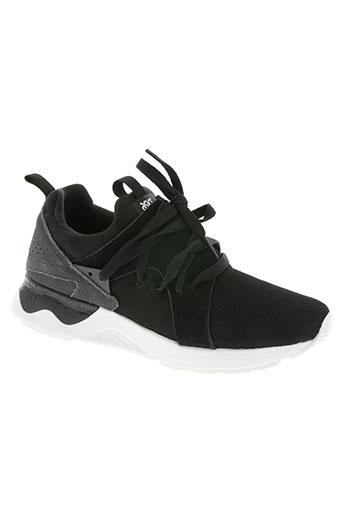 asics chaussures femme de couleur noir