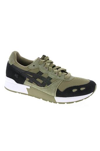 asics chaussures homme de couleur vert