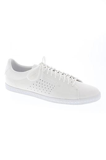 le coq sportif chaussures unisexe de couleur blanc