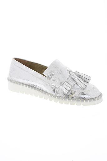 vanessa wu chaussures femme de couleur gris