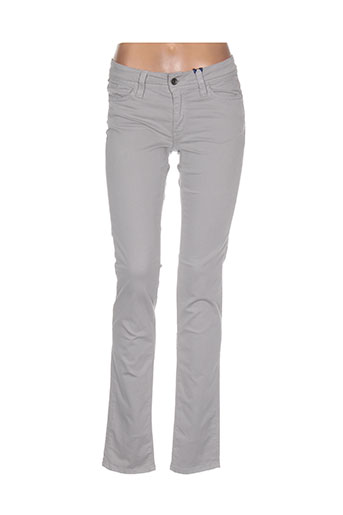 teddy smith pantalons fille de couleur gris