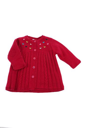 catimini manteaux fille de couleur rouge