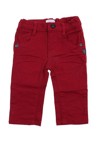 absorba pantalons garçon de couleur rouge