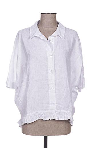 kokomarina chemises femme de couleur blanc