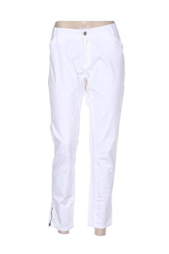 so soon pantalons femme de couleur blanc