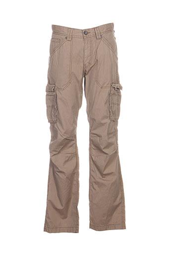 mexx pantalons homme de couleur beige