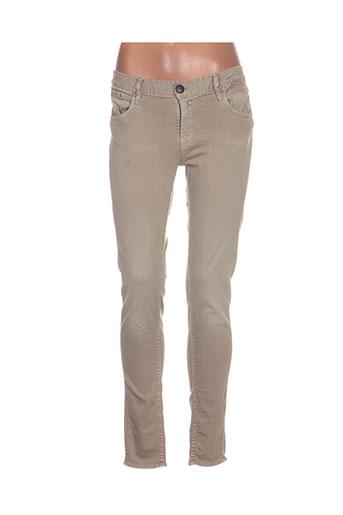 Pantalon casual beige HERRLICHER pour femme