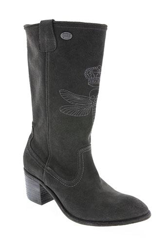 ikks chaussures femme de couleur gris