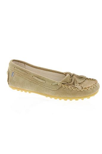 petit bateau chaussures fille de couleur beige