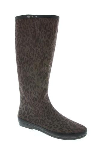 be only chaussures femme de couleur marron