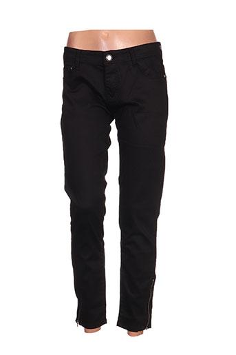 bs jeans pantalons femme de couleur noir