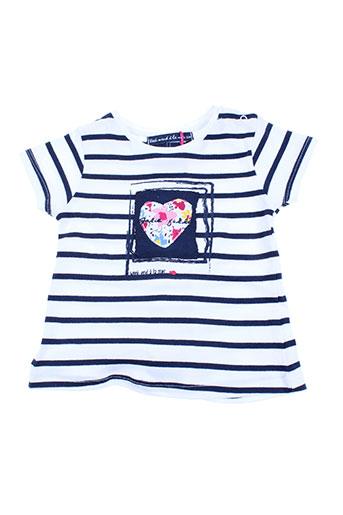 week end a la mer t-shirts fille de couleur bleu