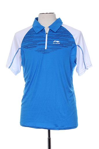 li-ning t-shirts homme de couleur bleu