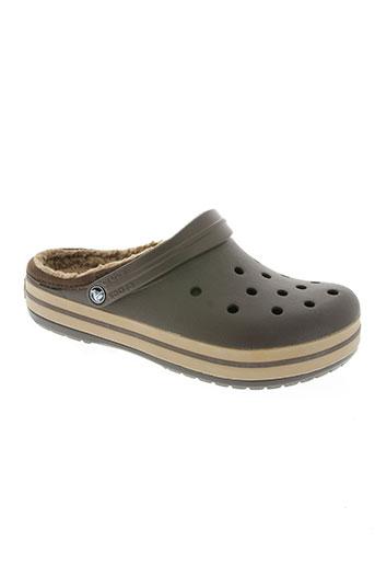 crocs chaussures homme de couleur marron