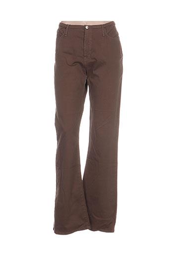 votre nom pantalons femme de couleur marron