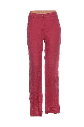 carlopik pantalons femme de couleur rose