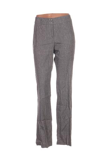 o.k.s pantalons femme de couleur gris