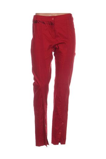 Pantalon casual rouge BASKERVILLE & ME pour femme