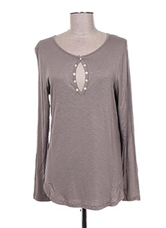 T-shirt manches longues marron ENTRACTE pour femme