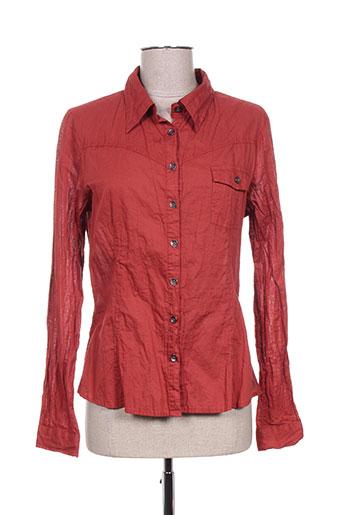 r867 chemises femme de couleur rouge