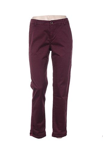 ikks pantalons femme de couleur violet