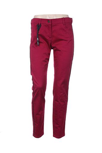 olsen pantalons femme de couleur violet