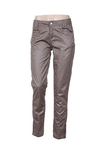 r867 pantalons femme de couleur marron
